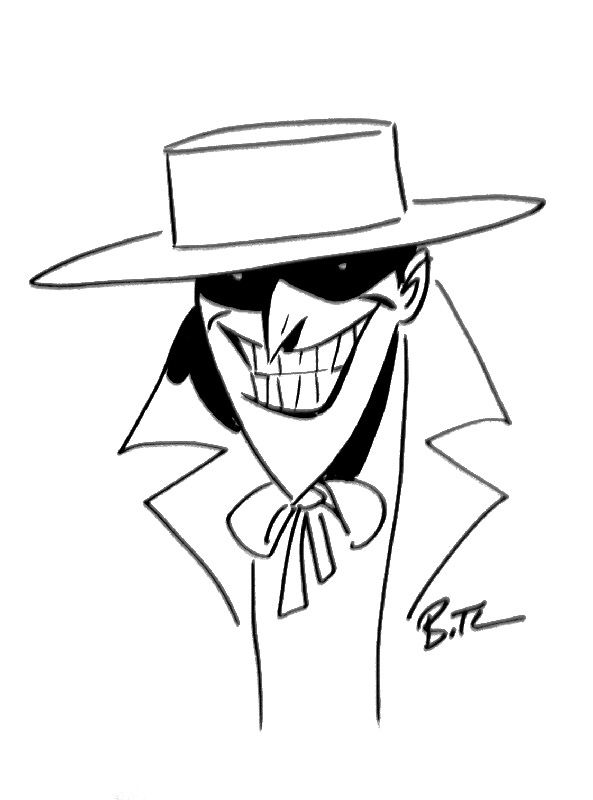 The Joker Sketch by Bruce Timm