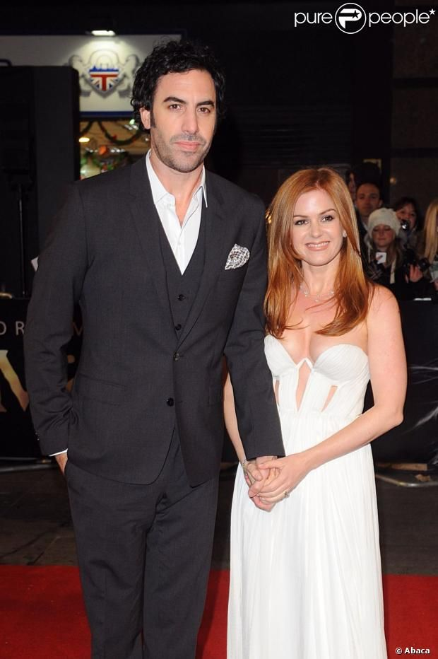 Sacha Baron Cohen and wife, Isla Fisher - Big height difference, but cute and funny couple!
