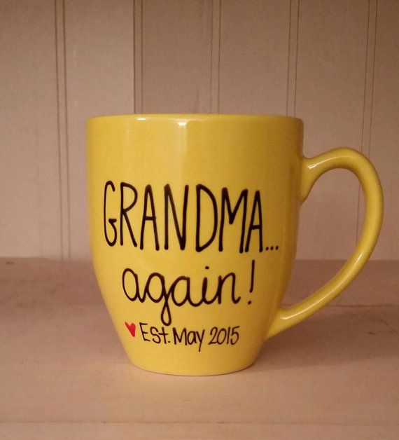 Grandma again mug, Mug for grandma to be, pregnancy announcement mug…