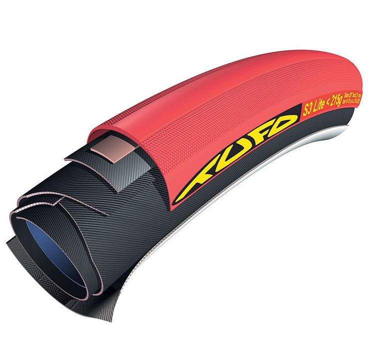 Tufo S3 Lite Racing Tubular Road Bike Tyre 700 x 21 - Red