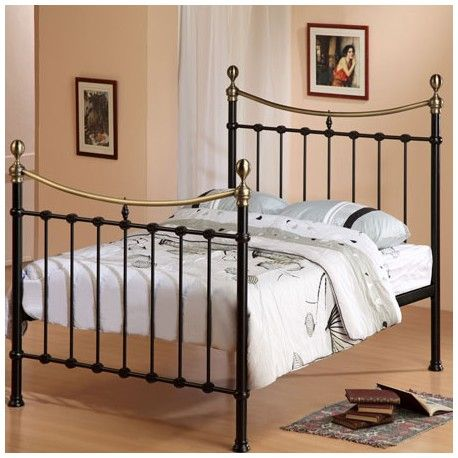 the black florida 5ft king size metal bed features a desirable metal frame which has been - Standard Metal Bed Frame