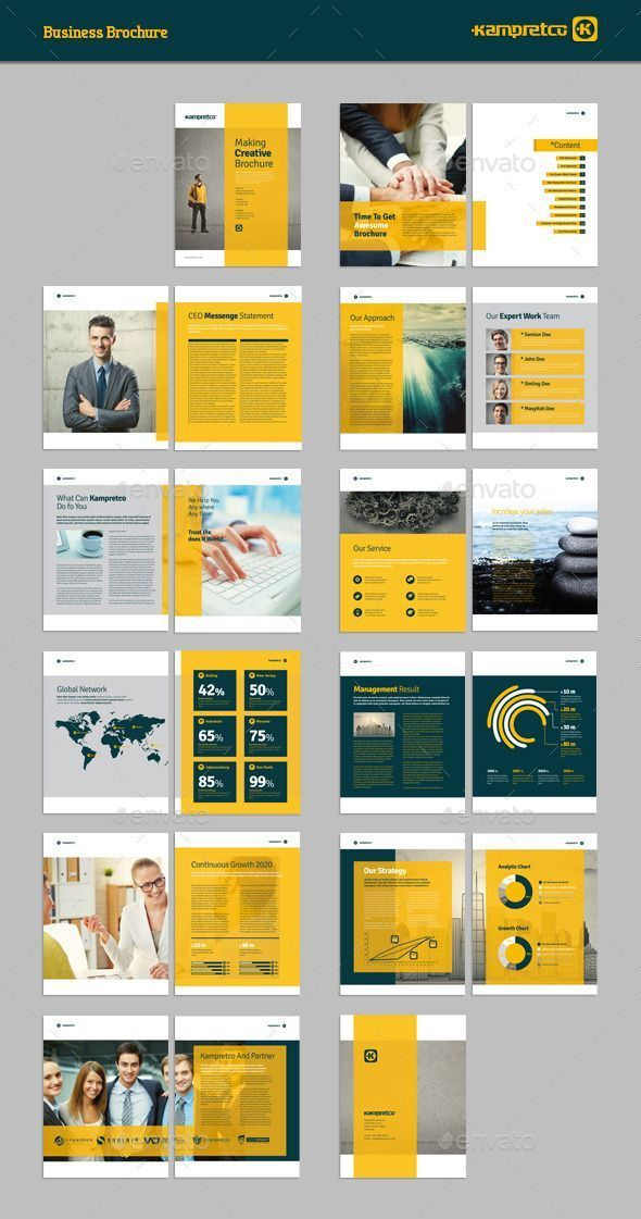 best brochure designs 2020 100+ Photo Realistic Corporate Brochure Template Designs | Free