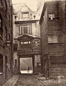 Old photo in Spitalfields, obv after time period but I love the imagery