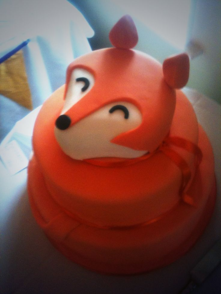 Fox Wedding Cake First Birthday Party Ideas Pinterest