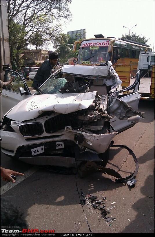 Bmw X1 Crash In Kerala Aluva The Car Opened Up Like Tin Can