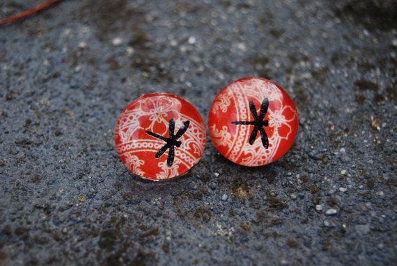 Dragonfly jewelry stud post earrings by KookkiDesignStudio, $16.50