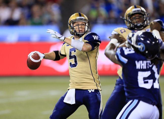 Toronto Argonauts vs. Winnipeg Blue Bombers CFL Pick, Odds, Prediction - 8/14/15