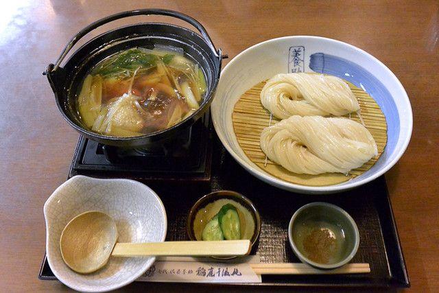 七代佐藤養助 - あったかつけ麺 比内地鶏(1,450円) 稲庭うどん