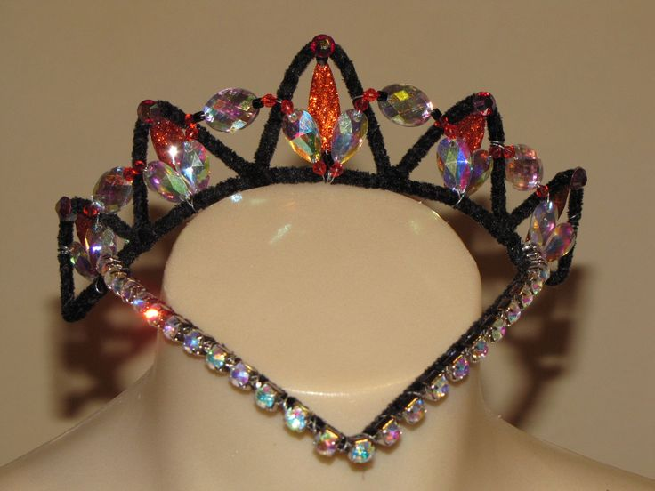Black and red tiara by Tutus by Dani