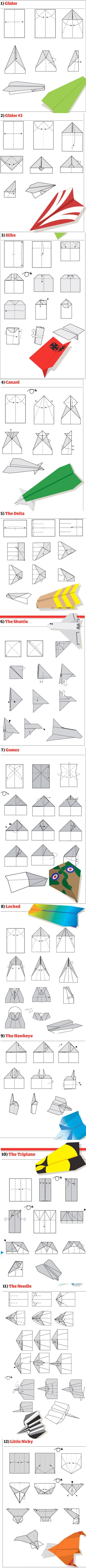 Paper airplanes. Page is in Chinese, but the illustrations are pretty self explanatory.