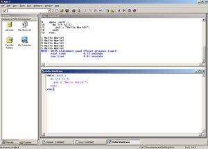 SAS 9 on Microsoft Windows screen shot