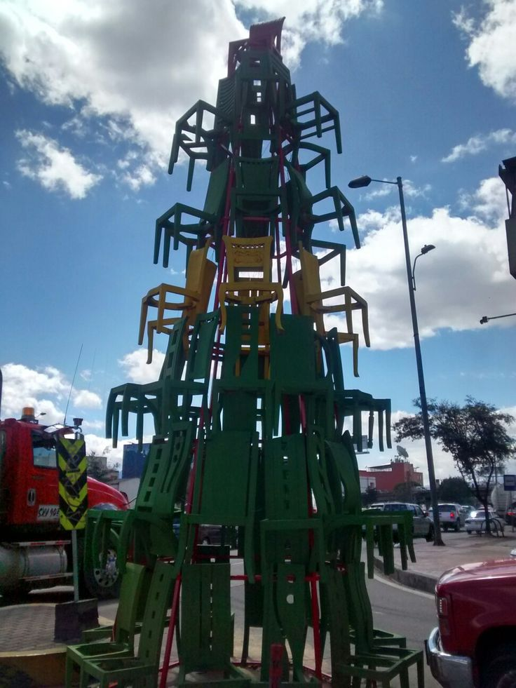 Árbol Navideño de la carrera 30 con calle 74 en Bogotá.