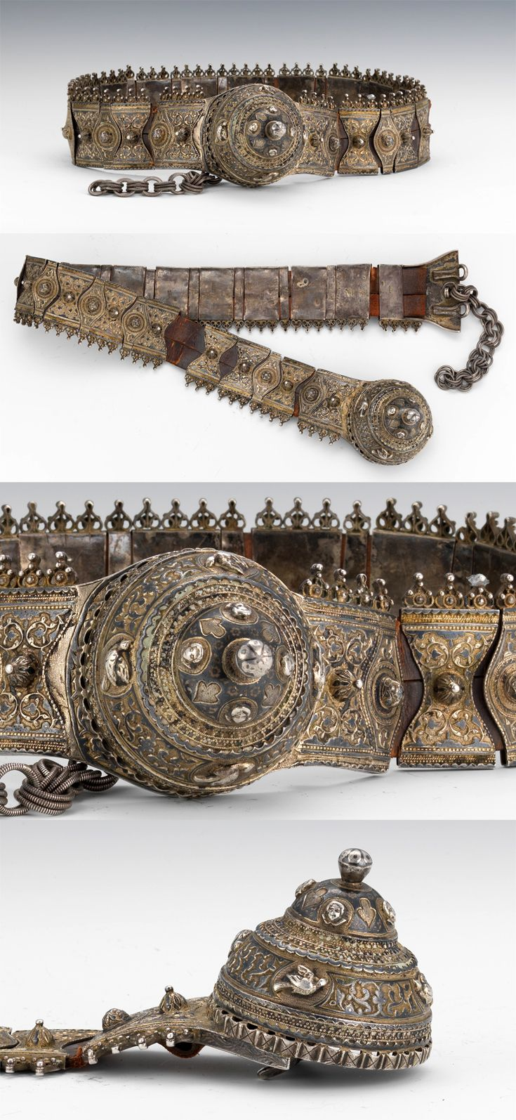 Caucasus Region | 84 standard silver belt decorated throughout with niello inlay | 690$ ~ sold (Dec '11)
