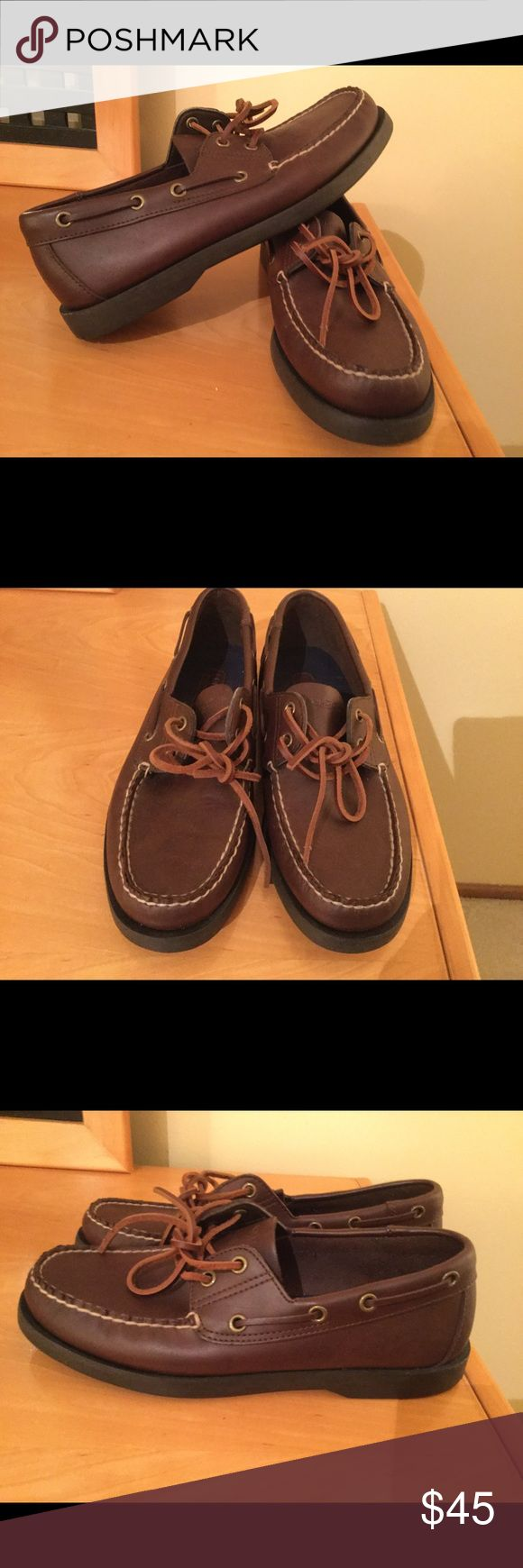 New Polo Ralp Lauren brown leather men's shoes New with out box Polo Ralph Lauren Sport brown leather men's boat shoes Sz 8D ( women's 10) . No box. Price firm ! Polo by Ralph Lauren Shoes Flats & Loafers