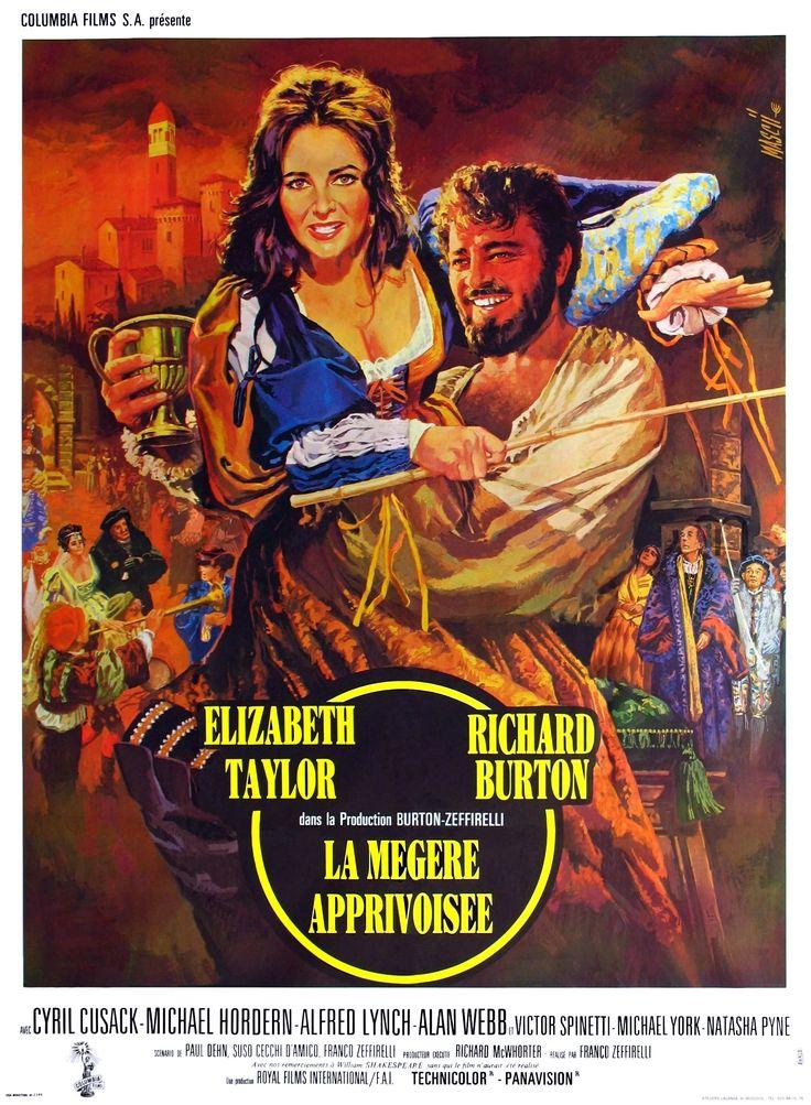 La Mégère apprivoisée (The Taming of the Shrew) est un film italo-américain réalisé par Franco Zeffirelli, sorti en 1967. Il s'agit d'une adaptation de la pièce éponyme de William Shakespeare. https://fr.wikipedia.org/wiki/La_M%C3%A9g%C3%A8re_apprivois%C3%A9e_(film,_1967)
