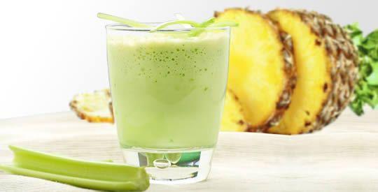 Frullato di sedano e ananas per perdere peso   Rimedio Naturale