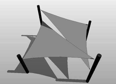 triangular sail shade structure