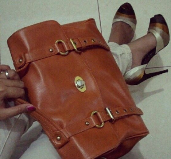 this is i call it as matching.. local brand bag and shoes by Pedro.