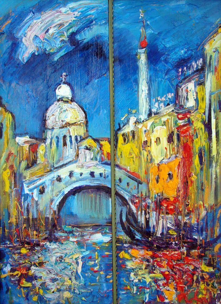 """""""Венеция. Мост"""" 2015 х,м. 40х30. 40 т.р. Картина  - прекрасный акцент в вашем интерьере, подчеркивает эксклюзивность и статусность."""