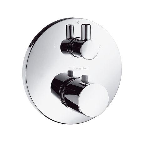 Set de finition pour mitigeur thermostatique S encastré avec robinet d'arrêt et inverseur,
