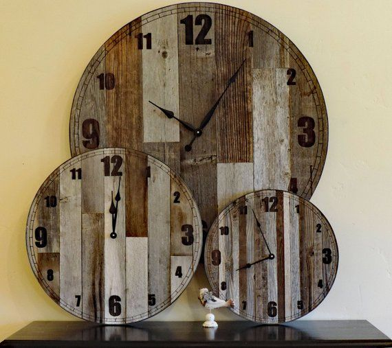 36 Inch Wooden Extra Large Country Oversize Farmhouse Etsy Rustic Wall Clocks Wood Wall Clock Large Rustic Wall Clock