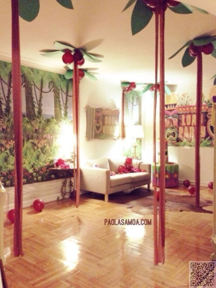 6. #Hanging Palm Trees - 46 #Eye-Catching Party Decorations for #Your… #Decorations