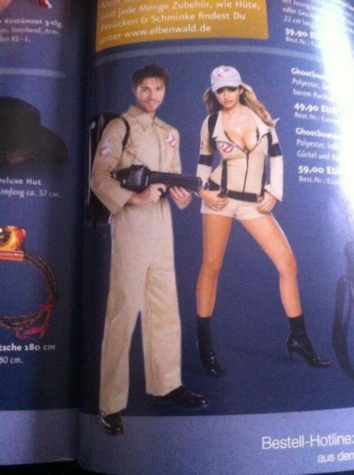 Pointlessly Gendered Ghostbusters Costume (click thru for more)