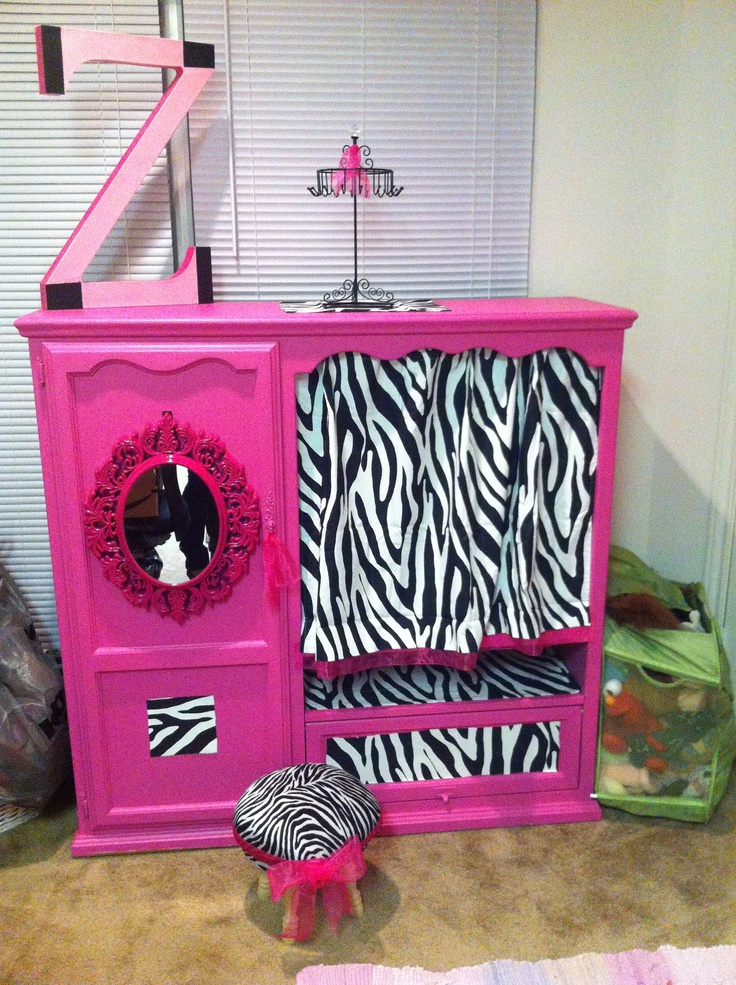 Tv Cabinet Turned In To A Dress Up Closet   Not The Colors But This Is
