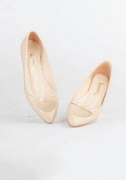 Kurdeleli Parlak Rugan  Vizon Babet    #babet #flats #chic #style #stil #fashion #summer #outfits #shoe #shoes #ayakkabı #ayakkabi #yazlıkayakkabı #yazlikayakkabi #fashiontrends #summertrends #summerstyle
