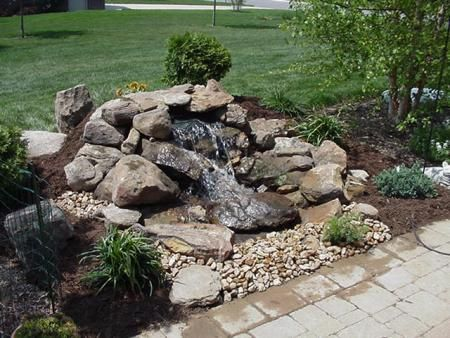 17 best images about water features on pinterest for Design of pondless waterfalls
