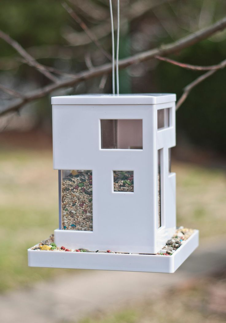 This bird feeder reminded me of you and your house! It's called: Ahead of the Current Bird Feeder | Mod Retro Vintage Pet Accessories | ModCloth.com