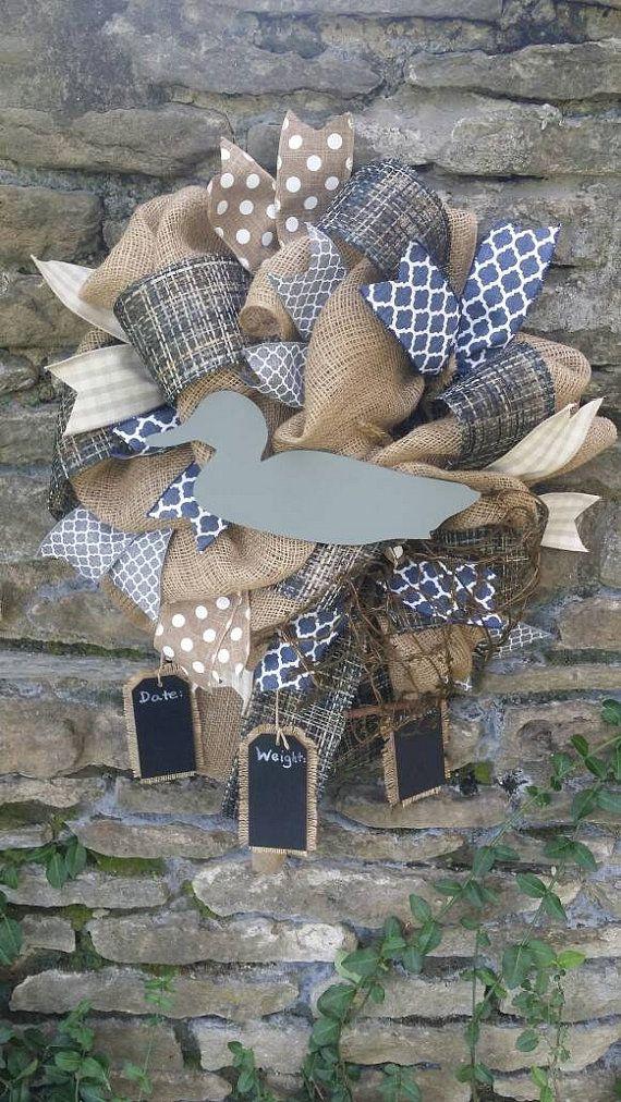 Duck Nursery Decor Gray Navy Duck Wreath by Underthekentuckysun