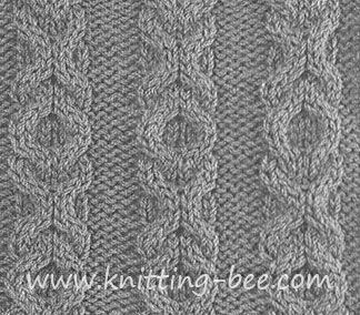 FreeKisses and Hugs Stitch knitting pattern. Abbreviations: k = knit p = purl CN = cable needle RC = (right cable) - slip 2 sts to CN at back, k2, k2 from CN LC = (left cable) - slip 2 sts to CN in front, k2, k2 from CN Cast on multiples of 8 (cable…