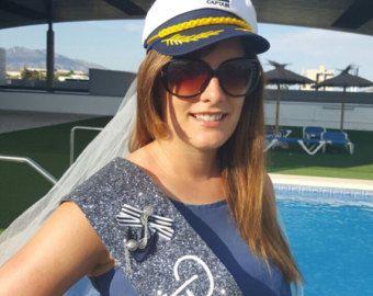 Sailor Nautical Theme Bachelorette / Hen hat & veil by NoraKatie