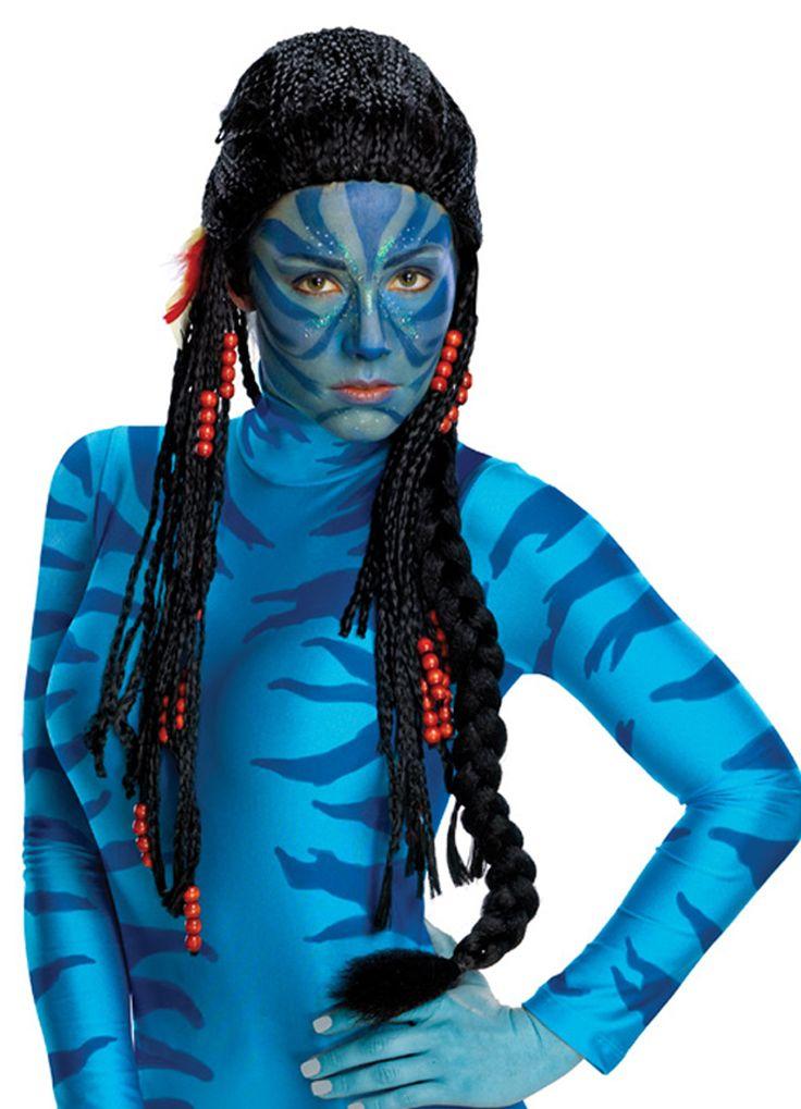 Avatar peruukki. Lisensoitu Avatar-tuote.