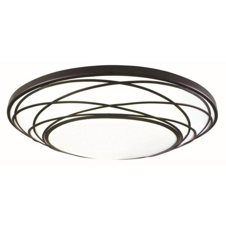 portfolio 1911in w black led ceiling flush mount light