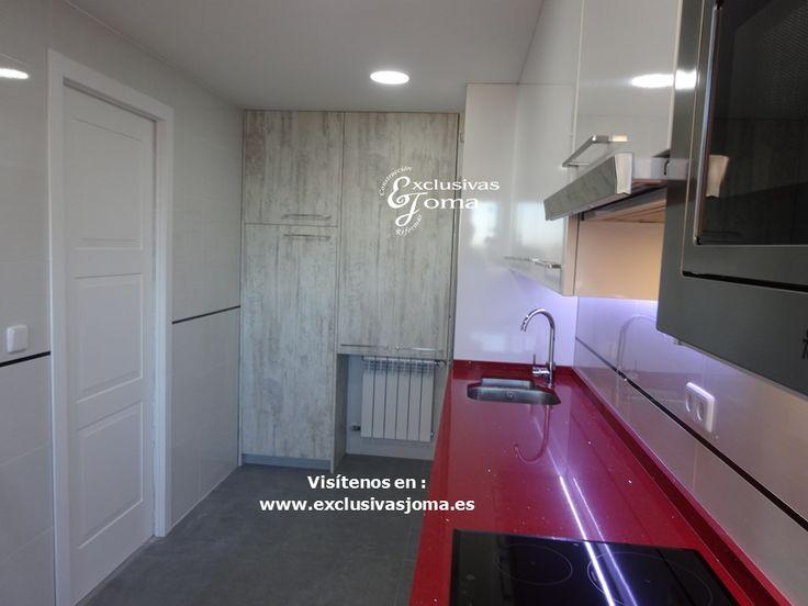 Reforma de cocina integral de piso en sector foresta en for Azulejos keraben cocinas