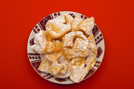 Claudia's Cookbook – Khrustyky (Ukrainian Fried Cookies)