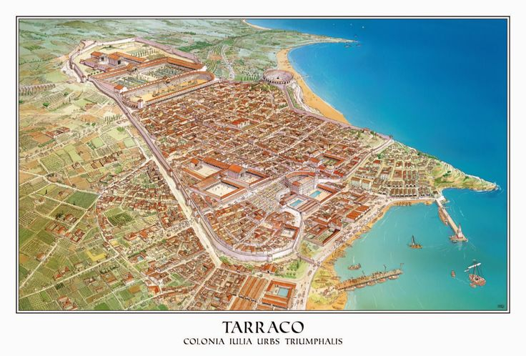 Tarraco was founded during the Second Punic War and was the oldest Roman settlement on the Iberian Peninsula, it later became the capital of the Roman province of Hispania.