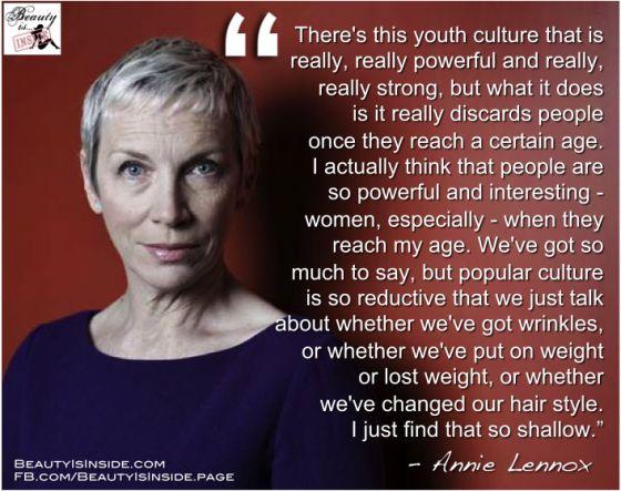 Annie Lennox on women & aging