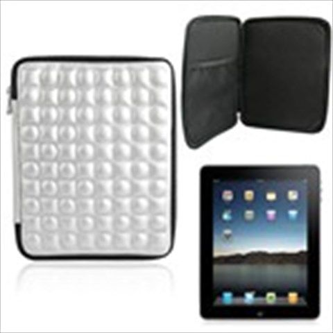Stylish Shock Resistant Protective Cover Case Bag Pouch with Zipper for Apple iPad 3 Tablet Laptop - Silvery #cover #case #bag #pouch #apple #ipad #tablet #laptop