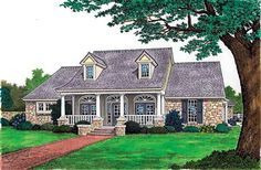 House Plan 97862 | Bungalow Cape Cod Country Plan with 2387 Sq. Ft., 3 Bedrooms, 3 Bathrooms, 3 Car Garage at family home plans
