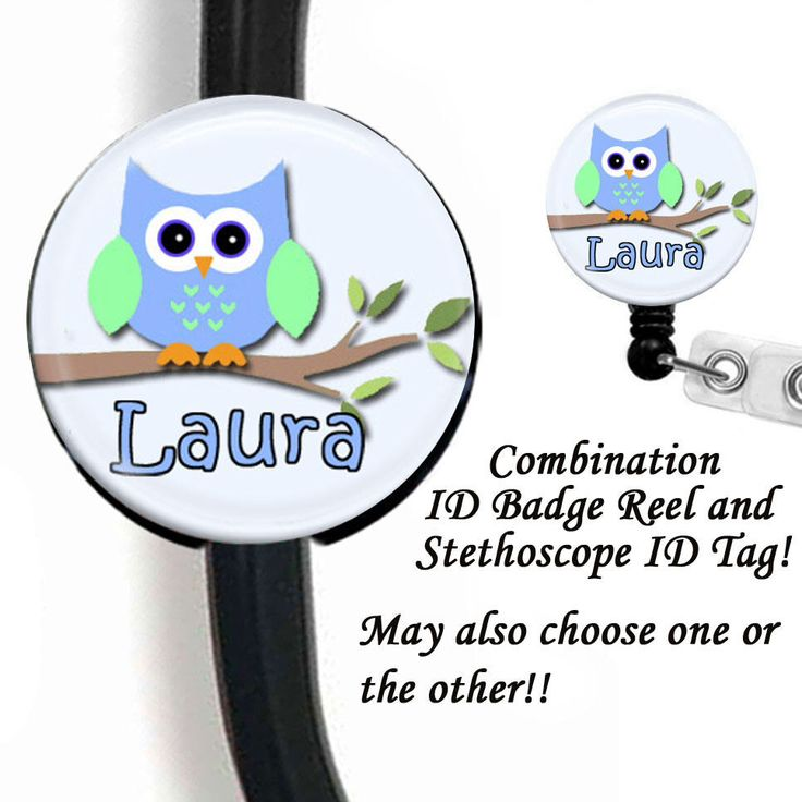 Owl Stethoscope ID Tag,Stethoscope Name Tag,Nurse Stethoscope Name Tag,Respiratory Stethoscope ID Tag,Nurse Id Badge Reel,Nurse Badge Holder by sparklinghope on Etsy https://www.etsy.com/listing/230626010/owl-stethoscope-id-tagstethoscope-name