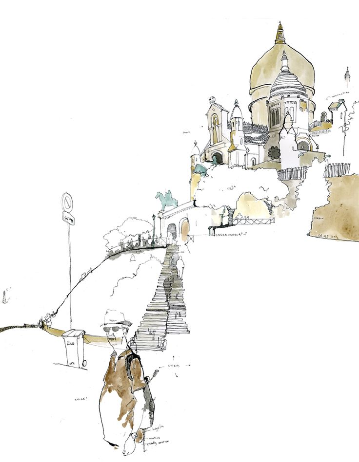 AWAYS LOVE the incompletely rendered, mixed with more finished look.  Sacre Coeur/ George Butler