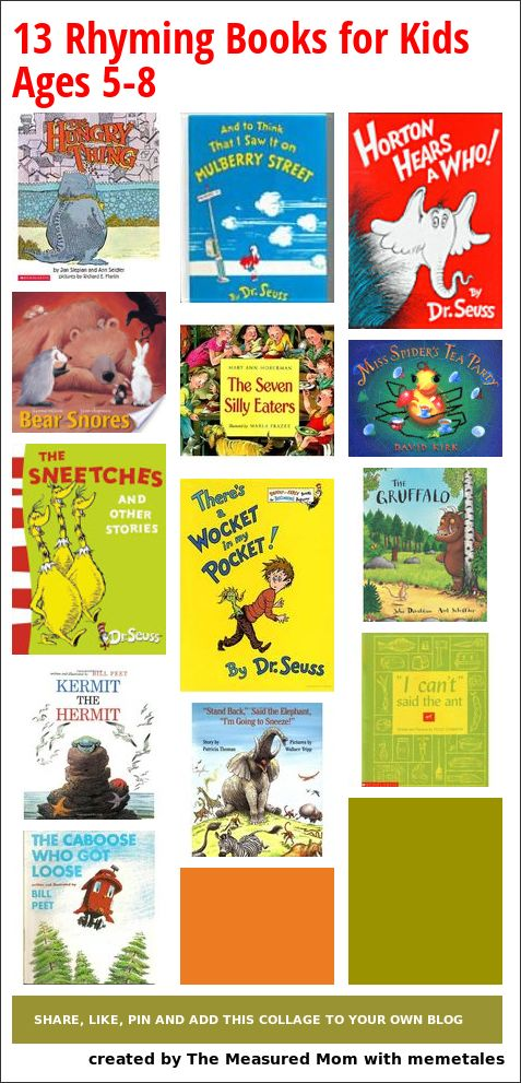 Best Rhyming Books for Kids Ages 5-8