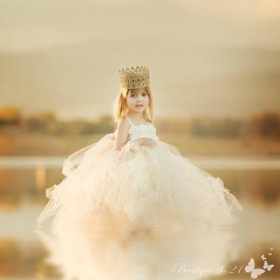 Champagne Flower Girl Dress Champagne Tutu Dress Champagne