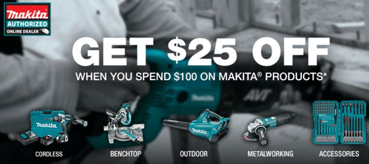 $25 of $100 select Makita & Bosch tools from products shipped and sold by Amazon.com #LavaHot http://www.lavahotdeals.com/us/cheap/25-100-select-makita-bosch-tools-products-shipped/132688