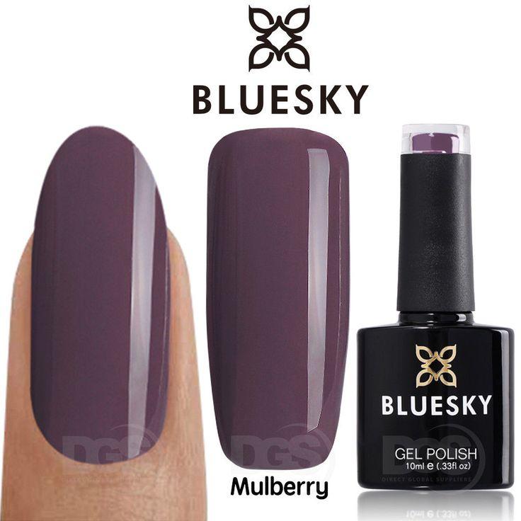 Bluesky Special Edition MULBERRY UV/LED Soak Off Gel Nail Polish 10ml Free P&P