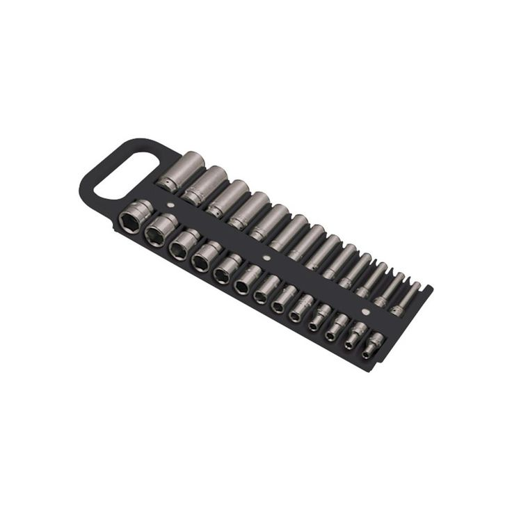 Lisle 1/4 in. Drive Black Magnetic Socket Holder for 26 Sockets