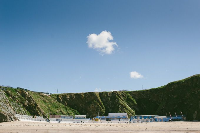 A view from the water - Lusty Glaze Beach, Newquay, Cornwall